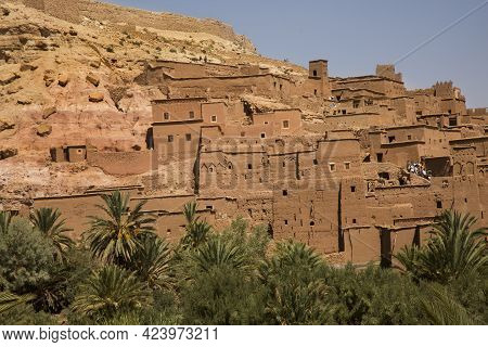 Ait-ben Haddou, Morocco. 24 September 2017.traditional Kasbah Fortress Ait Ben Haddou In The High At