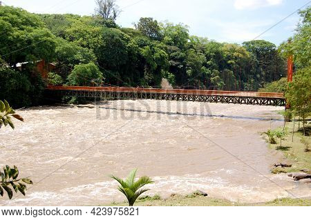São Paulo Brazil. Dec 19, 2009: The Piracicaba River Is The Largest Tributary In Volume Of Water Of