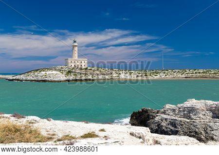 Lighthouse in Vieste, Apulia region, Italy