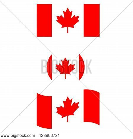 National Canada Flag. Button Flag Canada. Canada Flag.