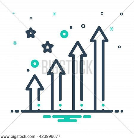 Mix Icon For Enhancing Increase Growth Development Progress