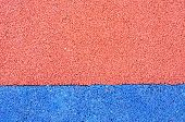Texture of color rubber floor on playground. ( Ethylene Propylene Diene Monomeror EPDM) poster