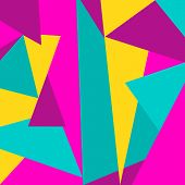 Beautiful abstract background with colored square triangles poster