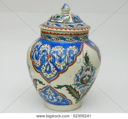 Standing Blue Jar