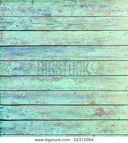 Aquamarine Wooden Background