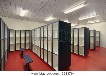Locker Room In Swimming Area