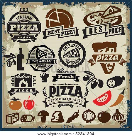 pizza sign set