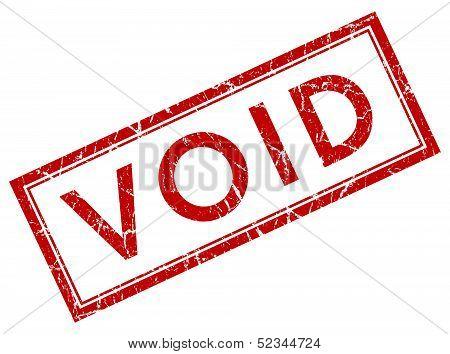 Void Square Grunge Red Stamp