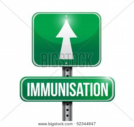 Immunization Road Sign Illustration Design