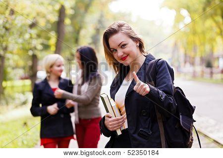 Schoolgirl Showing Thubsup