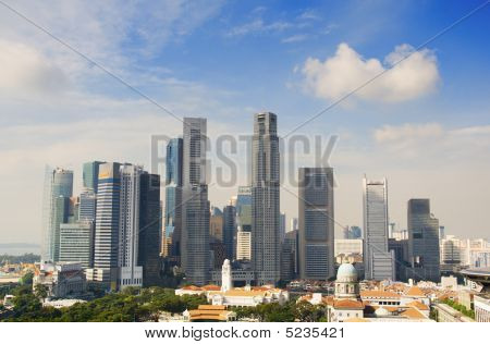 Singapore Downtown In The Daytime