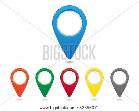 Map pins set