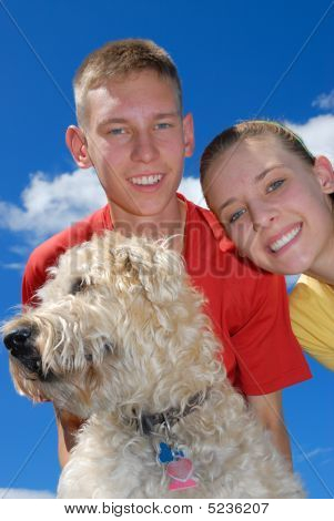 Siblings With Dog