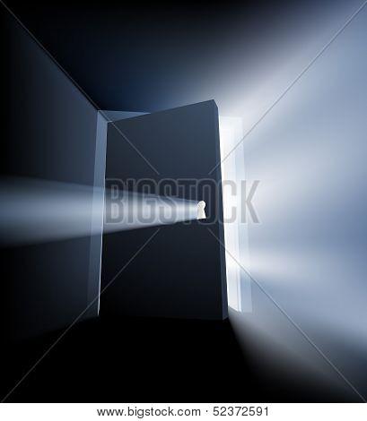 Ajar Door Light Beam Concept