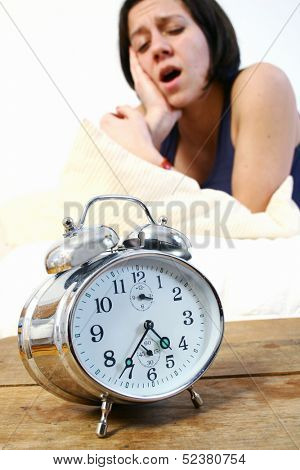 Woman doing insomnia