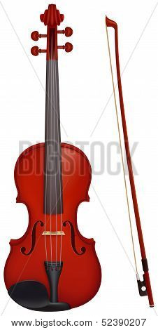 Violin With The Fiddlestick