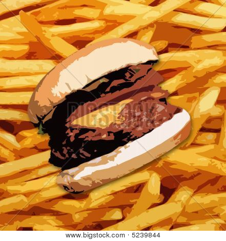 Fries And A Burger