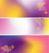 The vector illustration contains the image of abstract web banner poster