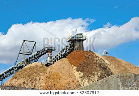 Stock Pile Of Saw Dust
