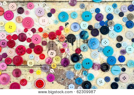 Grungy sewing buttons background