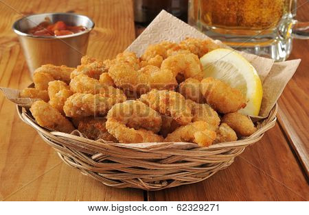 Popcorn Shrimp And Beer