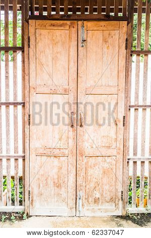 Old Style Wooden House Door