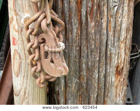 Rusty Latch And Chain