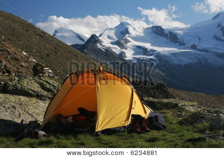 Camping in the mountains