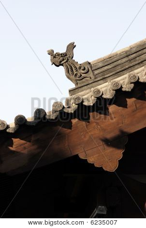 dragon roof of chinese temple,Shanxi province,china
