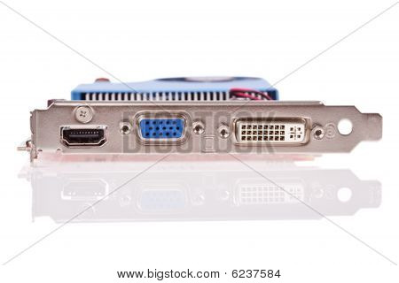 Video card with HDMI VGA and DVI connectors