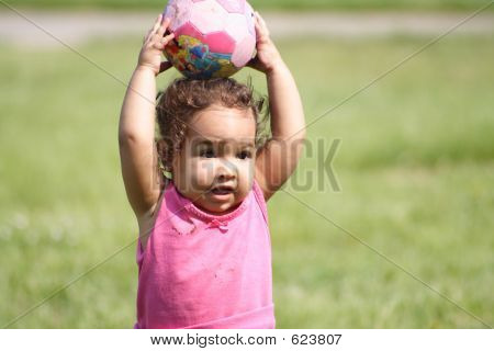 Baby And A Ball