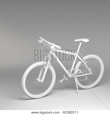 3D Bicycle Isolated On White Background