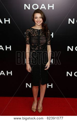 NEW YORK-MAR 26: Actress Ariane Rinehart attends the premiere of