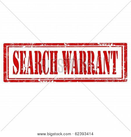 Search Warrant-stamp