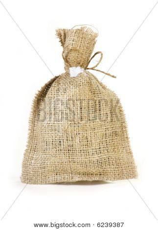 linen packet for different potion or dried herbage poster