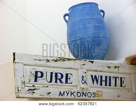 Mykonos Blue Vase,greece