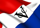 Flag of Dutch East India Company. Close Up. poster