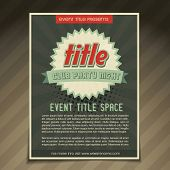 vector event flyer brochure template design poster