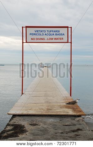 Boardwalk On Grado Beach