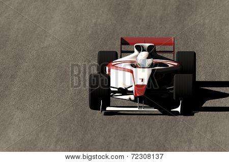 Formula 1 Indy Car on Race Track