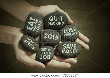 New Year Vision On Stones
