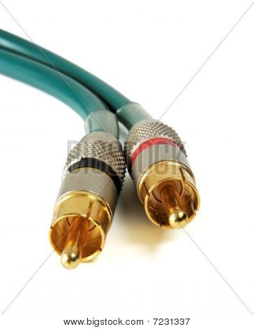Golden RCA cable