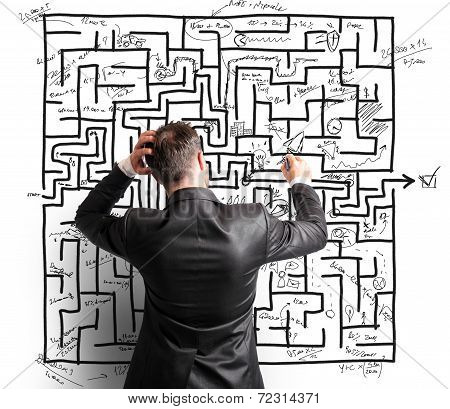 Difficult Resolution Of A Maze