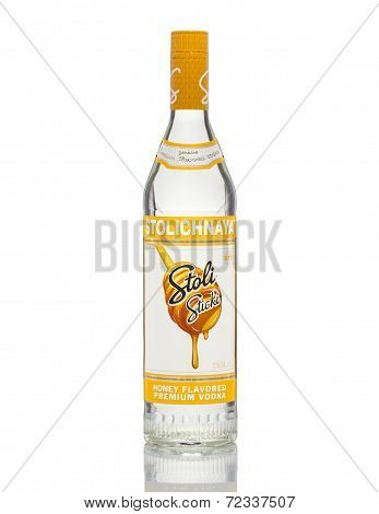 Stoli Sticki Stolichnaya Honey Flavored Premium Vodka