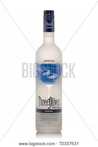 Bottle Of Three Olives Vodka Alc.40%, 750Ml