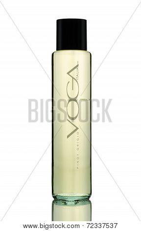 Bottle Of White Semi Dry Wine Voga Pinot Grigio Delle Venezie