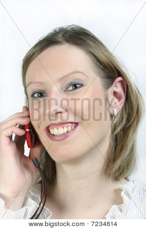 Smiling Girl With Cell Phone