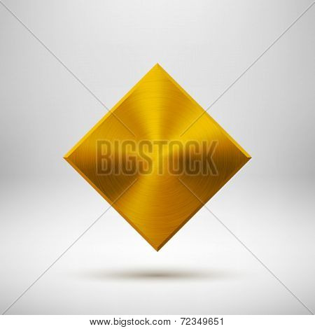 Gold Abstract Rhombic Button Template