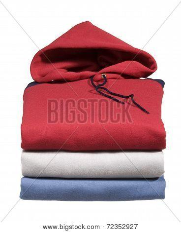 Stack Of Hooded Sweatshirts