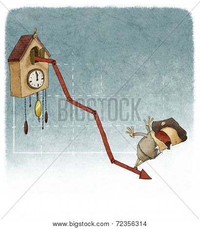 woman on financial graph